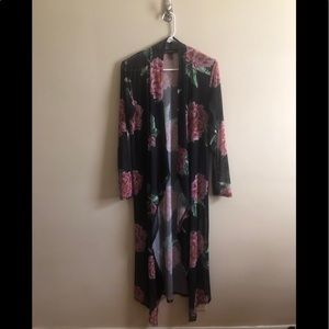 Sheer Floral Coverup